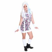 Fantasia Monster High Abbey Bominable + Peruca Luxo Original