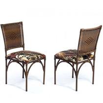 Cadeira Decorativa 2 Peças Em Aço Mobile