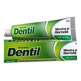 12 Creme Dental Natural S/flúor Menta E Hortelã 90g Dentil