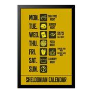 Quadro Poster The Big Bang Theory Calendário 33x23cm
