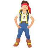 Fantasia Jake Piratas Da Terra Do Nunca Original 3/4 Anos