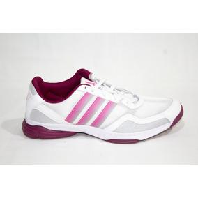 Tenis Deportivo adidas M18043 Blanco Gris Rosa Para Dama