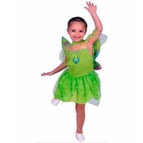 Disfraz Tinkerbell Campanita Luz Disney Talle 1 5/6 Años