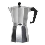 Cafetera Aluminio Pulido Hudson Tipo Italiana 9 Tazas