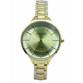 5dac6b9c650 Relogio Dourado Feminino Camelo Masculino Atlantis - Relógios De ...