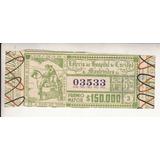 Ephemera 1953 Billete Decimo Loteria De Uruguay Vintage