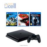 Play Station 4 Hits 2 500gb Incluye 3 Juegos + 1suscripcion