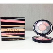 Mini Paleta Sephora: 4 Sombras, 1 Blush, 2 Lip Glosses