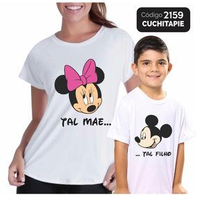 2 Camisetas - Tal Mãe Tal Filho - Mickey E Minnie