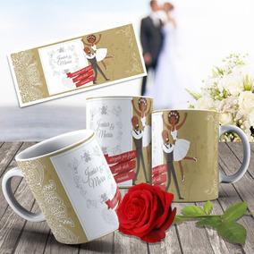 Caneca Porcelana Personalizada Casamento Padrinhos Parentes