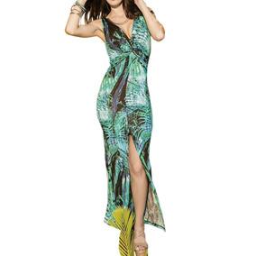 Vestido Para Playa Holly Land Verde Poliester Sn428