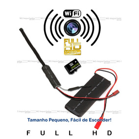 Camera Wi-fi Conexcao Mic Temp Real Espionagem Ip Online New