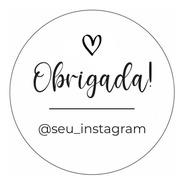 100 Adesivos Etiqueta Obrigada Instagram Personalizado