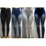 6 Jeans Dama Elastizados Chupin Tiro Alto Roto Del 36 Al 46 c1812a704a9d