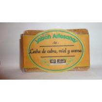 Jabón Artesanal De Avena, Leche De Cabra Y Miel
