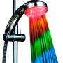 Ducha Multicolor Led Luz Segun Temperatura/ Hb Importaciones