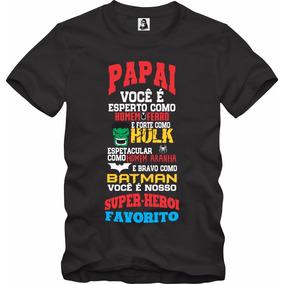 Camisa Camiseta Personalizada Dia Dos Pais Papai Herói