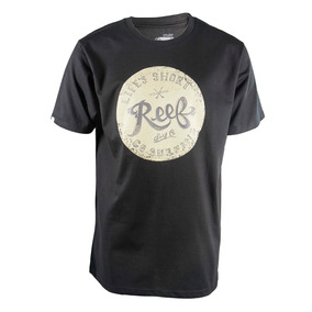 Remera Reef Contrasted Palm Hombre Negro