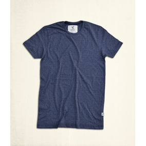 T-shirt Navy Jaspe Estampado Cruces