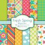 Kit Imprimible Pack Fondos Primavera Flores Mariposas