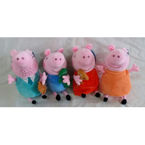 Peppa Pig Família 4 Peças (papai, Mamãe,peppa E George) 30cm