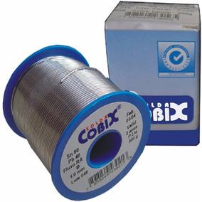 Solda Estanho 1mm 60x40 Cobix C/ Fluxo Ra - Rolo 500g