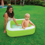 Piscina Bebé Inflable Cuadrada Intex Verde