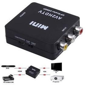 Convertidor De Rca A Hdmi Adaptador 720p 1080p Full Hd