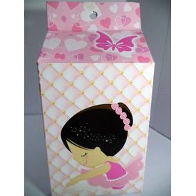 Caixinha Milk Personalizada Da Bailarina Rosa