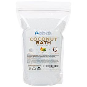 New Coconut Bath Salt 2-lbs (32 Ounces) - Epsom Salt Bath So