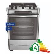 Cocina A Gas Whirlpool Wf360xg Grill 60 Cm Acero 18 Cuotas