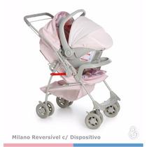 Kit Carrinho Bebê Milano Galzerano Com Bebê Conforto