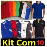 Kit 10 Camisa Polo*frete Grátis* Importada Atacado Revenda