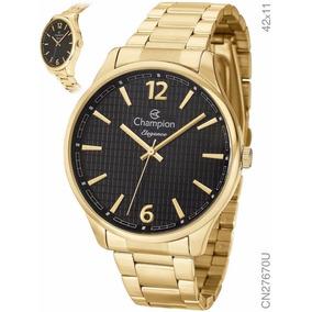 Relógio Champion Elegance Feminino Dourado Cn27670u + Nf-e