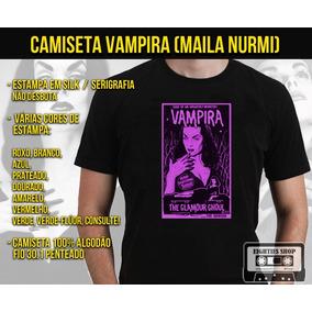 Camiseta Vampira Maila Nurmi Plan 9 Terror Horror Filmes Tv