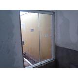Porta De Blindex 2,10x1,50 Verde De Correr Desmontada