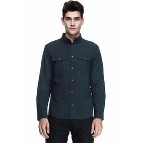 Camisa Ax Armani Exchange (contrast Collar) Med 100%original