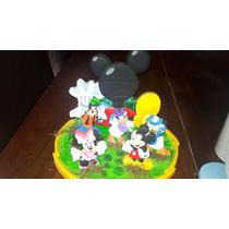 Adorno Torta Casa De Mickey Mouse Y Personajes