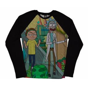 Blusa Camiseta Manga Longa Raglan Séries Cool Rick And Morty
