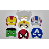 Mascaras Antifaces Superheroes Goma Eva X 1 Unidad