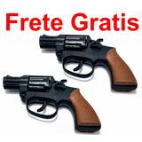 Kit Duas Armas Revolver Pistola Espoleta Bolinhas Replica 2
