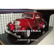 Ford 1932 Hot Rod - Blower Llantas Cragar - R Motormax 1/24