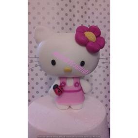 Hello Kitty En Porcelana Fría