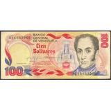 Billete Conmemorativo 100 Bolívares 1980 Serial A8 F/ F-
