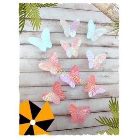 10 Mariposas Tornasolada Deco Tocados Disfraz 15 Años