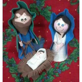 Navidad Sagrada Familia Pesebres Goma Eva