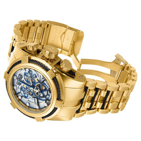 adb4cc82c0a Relógio Invicta Bolt Zeus 13757 Gold Skelecton Original ! - Relógios ...