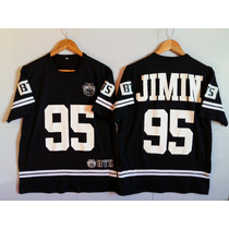 Camiseta K Pop Bts Jimin 95 Uniform College Baseboll + Colar