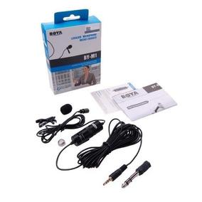 Microfone Lapela Boya By-m1 Iphone Smartphone Dslr Cabo 6m