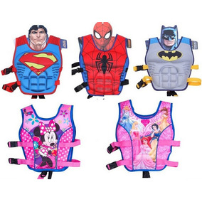 Chaleco Salvavidas Spiderman Batman Superman,natacion Playa